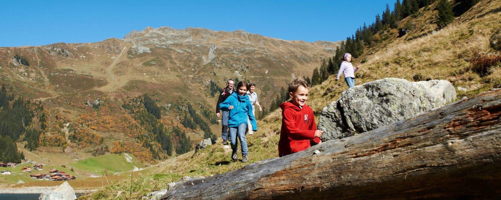 Wandern Davos Klosters mit der Familie