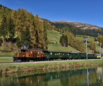Nostalgiezug Rhätische Bahn - Davos Wiesen